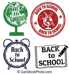 Back to School stamps