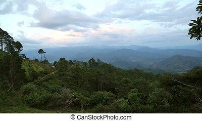 Honduras Mountins - High view over green mountains