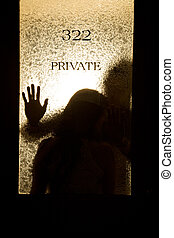 Business colleagues affair - A silhouette shot of a business...