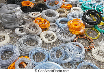 Hoses and tubing - Big bunch of hoses and tube coils