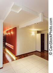 Spacious apartment - hall of big contemporary house
