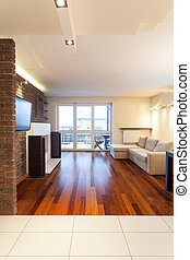 Spacious apartment - Living room - Spacious apartment -...