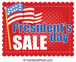 President Day Sale Banner Vector Illustration