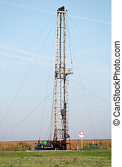 land oil drilling rig heavy industry
