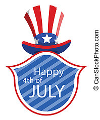 happy 4th of july hat - Drawing Art of Cartoon Uncle Sam Hat...