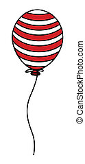 Balloon Illustration - 4th of july