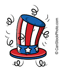 Uncle sam hat - 4th of july Vector Illustration