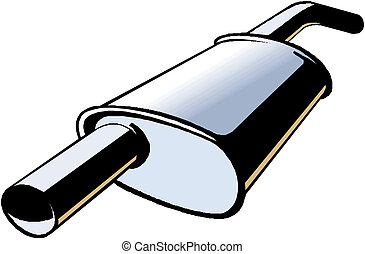 Car exhaust Vector illustration