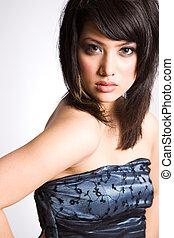 Beautiful asian girl - A fashion shot of a beautiful asian...