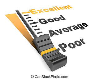 Evaluation rate - excellent - poor. - detailed 3d...