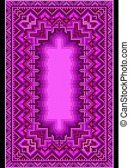 Refined oriental carpet in purple s