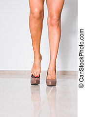 Woman's legs with high heels
