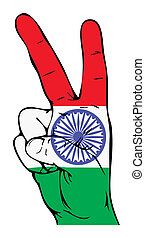 Peace Sign of the Indian flag