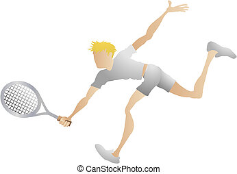 Tennis player - An illustration of a stylised tennis player...