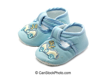 Summer shoe for newborn baby on white