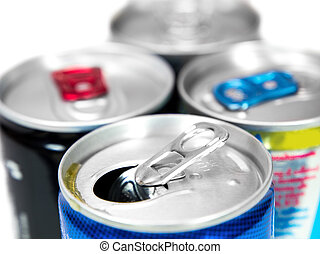 Energy drink cans.