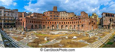 Foro Traiano in Rome, Italy.