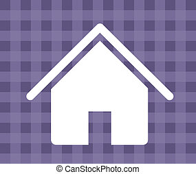 home icon - house silhouette over grid background vector...