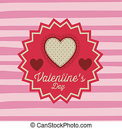 Valentine's Day - valentines day over lineal background...