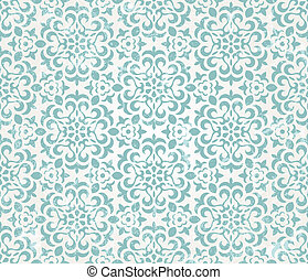 Floral retro wallpaper with grunge effect Seamless...