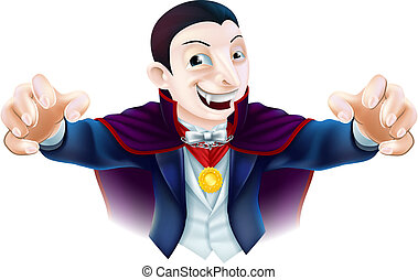 Halloween Cartoon Dracula - An illustration of a cute...