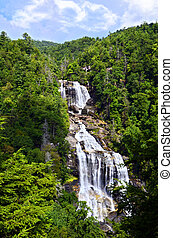Whitewater Falls on the Whitewater River is the last river...