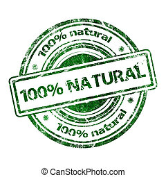 100% Natural Grunge Rubber Stamp