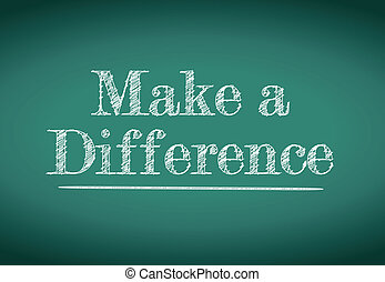 make a difference message
