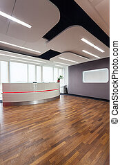 Business center - Interior of a business center and...