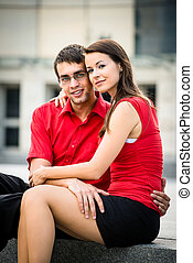 Relation in work - young business couple