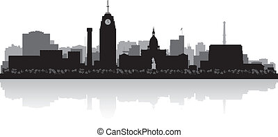 Lansing Michigan city skyline silhouette - Lansing Michigan...