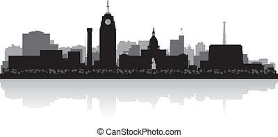 Lansing Michigan city skyline silhouette - Lansing Michigan...