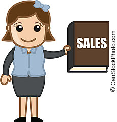 Girl Showing Sales Book - Sales Tip