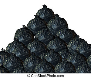 Rubbish Background - A background made out of rubbish bags.