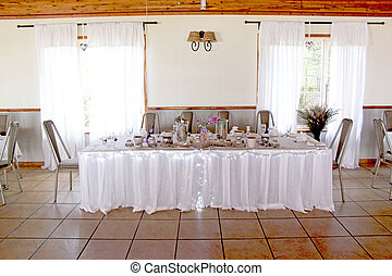 Wedding Reception Venue And Decor - View of the venue of a...