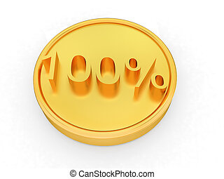 Gold percent coin 100