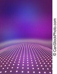 Light path to infinity on a pink