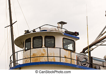 Old Tug Cabin with Seagull