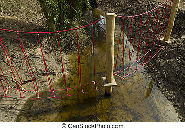 rope bridge - small rope bridge for kids over a ditch