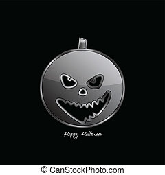 Halloween pumpkin - Abstract Design - Halloween pumpkin on...