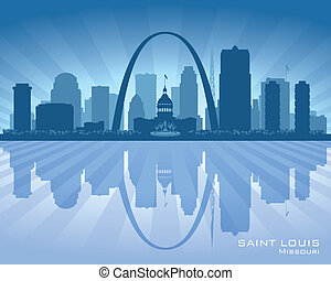 Saint Louis Missouri city skyline vector silhouette...
