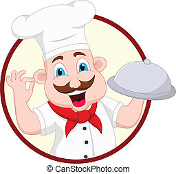 Cartoon Chef Character - vector illustration of Cartoon Chef...