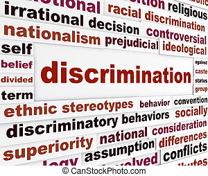Discrimination social issue concept Human differences...