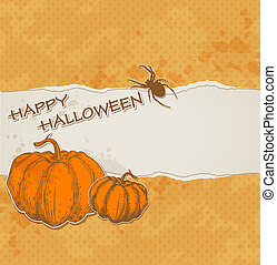 Halloween background with torn paper