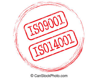 ISO stamp vector