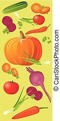 Vegetable vertical banner