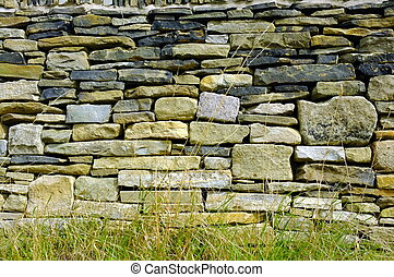 YORKSHIRE STONE AND FLINT WALL