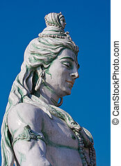 Shiva statue in Rishikesh, India - Statue Shiva, hindu idol...