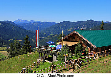 Zohreralm in Austria - Zohreralm, Restaurant at 1334M. high...
