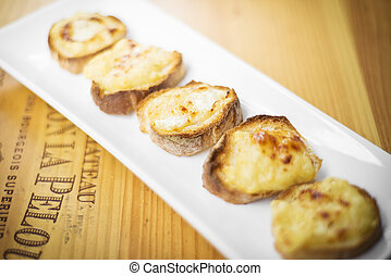 cheese toast starter snack dish